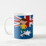 Australian Soccer Girl 4 Coffee Mugs