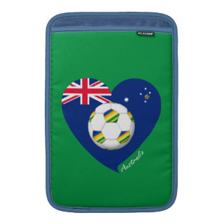 "Australian Soccer Heart. Fútbol de ""AUSTRALIA"" Fundas Macbook Air"