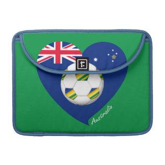 """Australian Soccer Heart. Fútbol de """"AUSTRALIA"""" Funda Para Macbooks"""