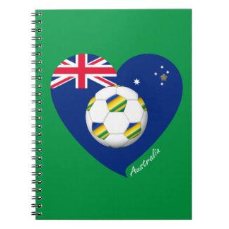 """Australian Soccer Heart. Fútbol de """"AUSTRALIA"""" Libros De Apuntes"""