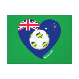 "Australian Soccer Heart. Fútbol de ""AUSTRALIA"" Impresiones En Lienzo Estiradas"