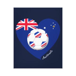 """Australian Soccer Team. Fútbol de """"AUSTRALIA"""" Lienzo Envuelto Para Galerías"""