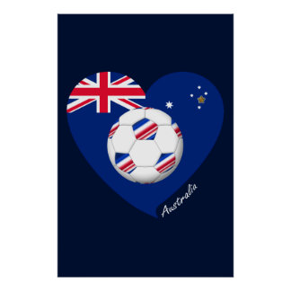 "Australian Soccer Team. Fútbol de ""AUSTRALIA"" Impresiones"