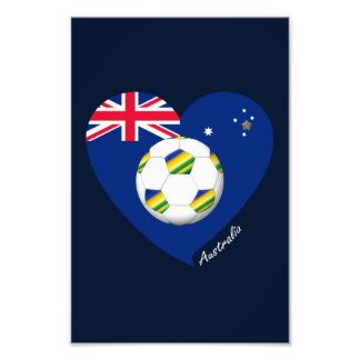"Australian Soccer Team. Fútbol de ""AUSTRALIA"" Arte Con Fotos"