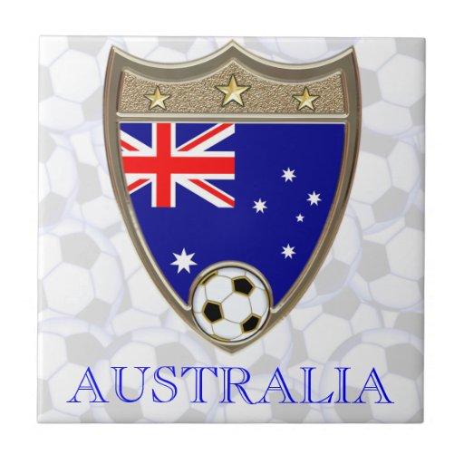 Australian Soccer Tile
