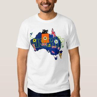 Australian State Territories Australia flag Map T-shirt