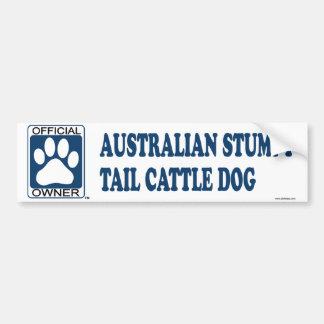 Australian Stumpy Tail Cattle Dog Blue Bumper Stickers