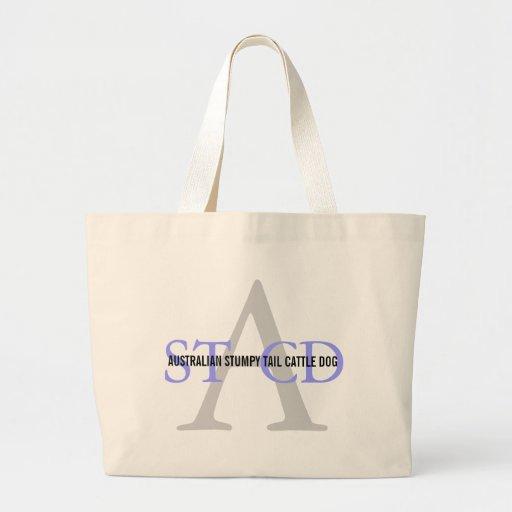 Australian Stumpy Tail Cattle Dog Monogram Bag