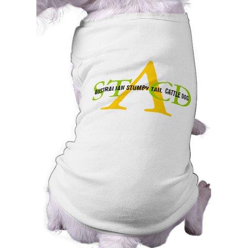 Australian Stumpy Tail Cattle Dog Monogram Dog Tee Shirt