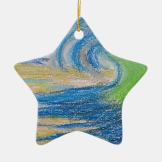 Australian Surf Scene Ceramic Ornament