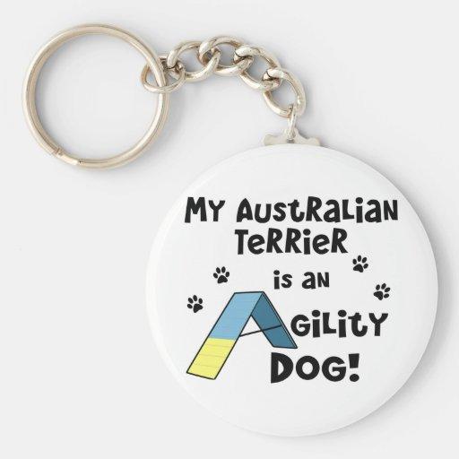 Australian Terrier Agility Dog Key Chain
