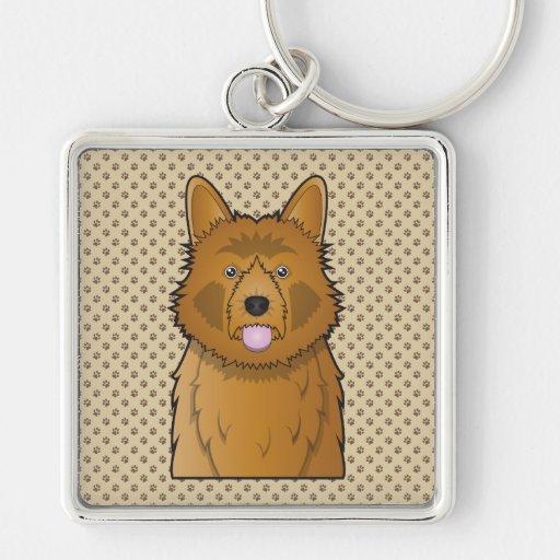 Australian Terrier Cartoon Keychains