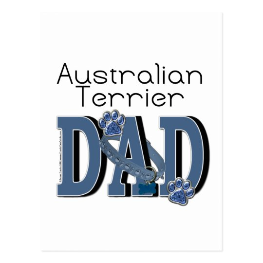 Australian Terrier DAD Postcard