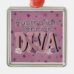 Australian Terrier DIVA Christmas Ornament