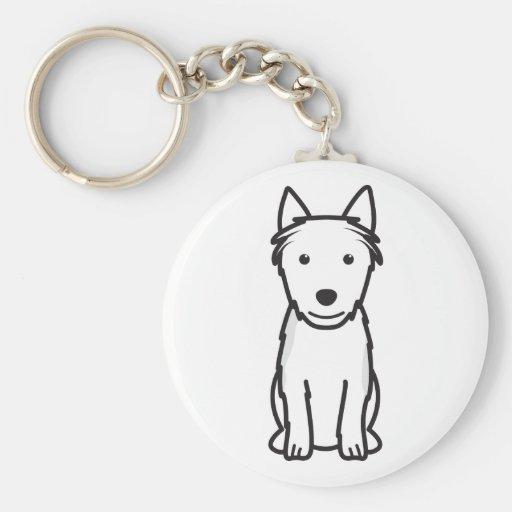 Australian Terrier Dog Cartoon Key Chains