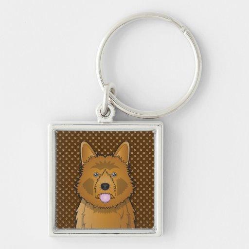Australian Terrier Dog Cartoon Paws Key Chain