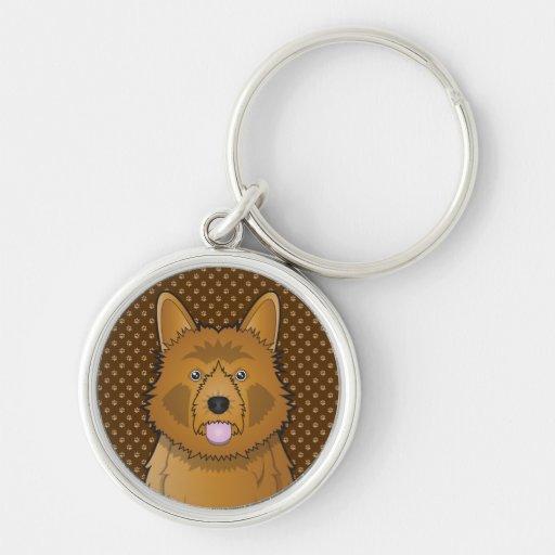 Australian Terrier Dog Cartoon Paws Keychain