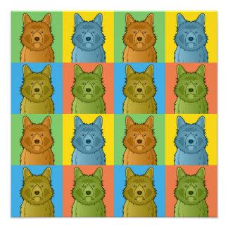 Australian Terrier Dog Cartoon Pop-Art Photo