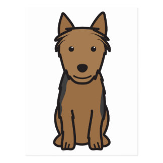 Australian Terrier Dog Cartoon Postcard