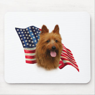 Australian Terrier Flag Mouse Pad