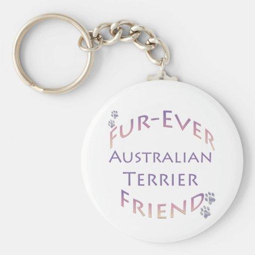 Australian Terrier Furever Basic Round Button Keychain