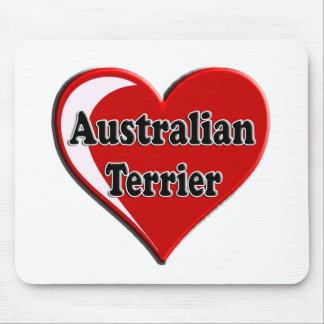 Australian Terrier Heart for dog lovers Mouse Pad