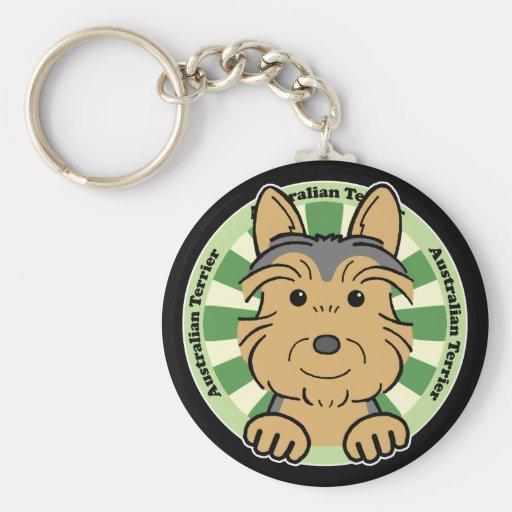 Australian Terrier Keychain