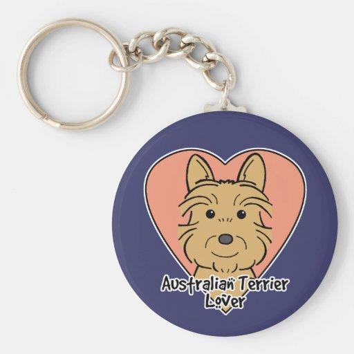 Australian Terrier Lover Keychain