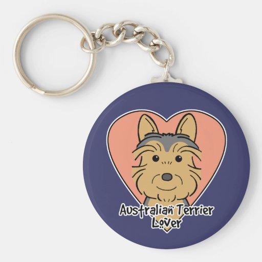 Australian Terrier Lover Key Chain