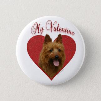 Australian Terrier My Valentine - Button