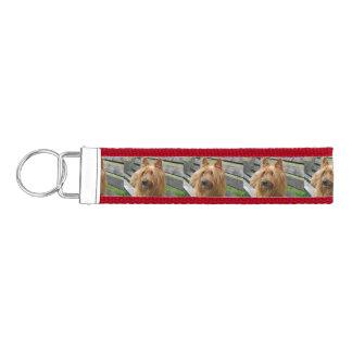 australian terrier on bench.png wrist keychain