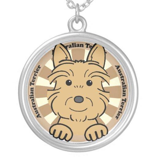 Australian Terrier Personalized Necklace