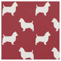 Australian Terrier Silhouettes Pattern Fabric