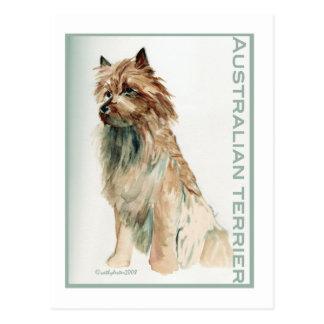 Australian Terrier sit Postcard