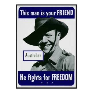 Australian -- This Man Is Your Friend -- Border Poster