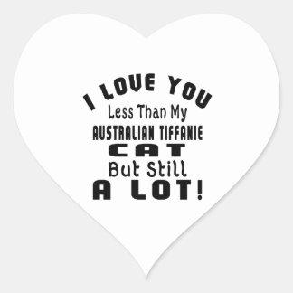 AUSTRALIAN TIFFANIE FUNNY DESIGNS HEART STICKER