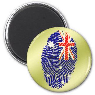 Australian touch fingerprint flag 2 inch round magnet