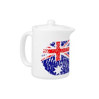Australian touch fingerprint flag teapot