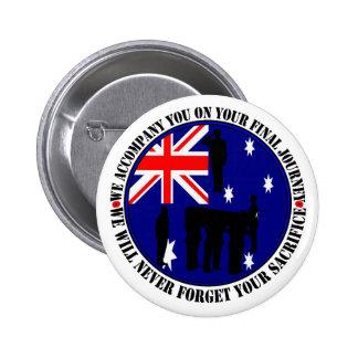 Australian trampas Heroes Funeral Pin Redondo De 2 Pulgadas