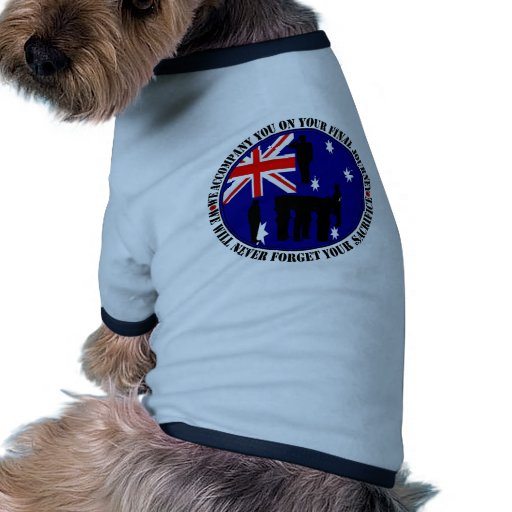 Australian trampas Heroes Funeral Camiseta Con Mangas Para Perro