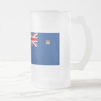 Australian Victoria Flag Frosted Glass Beer Mug