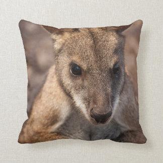Australian wallaby throw pillow