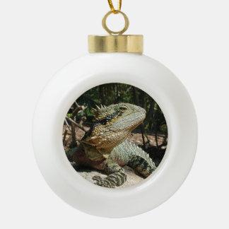 Australian Water Dragon Ceramic Ball Christmas Ornament