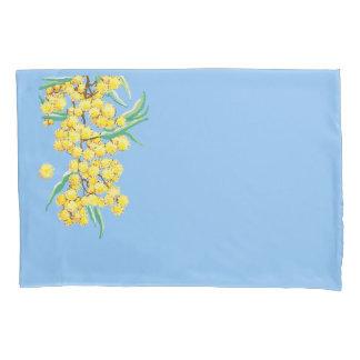Australian wattle blossom pillowcase