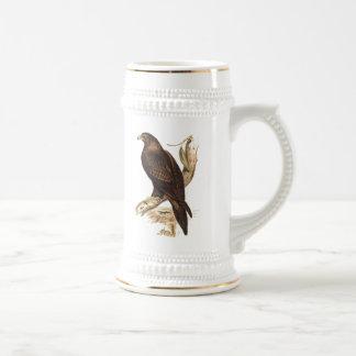 Australian Wedge Tailed Eagle. Huge Bird of Prey. Beer Stein