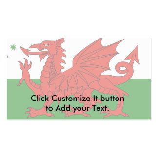 Australian Welsh Heritage, Australia flag Business Card