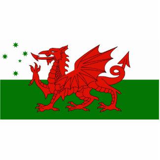 Australian Welsh Heritage, Australia flag Photo Cut Out