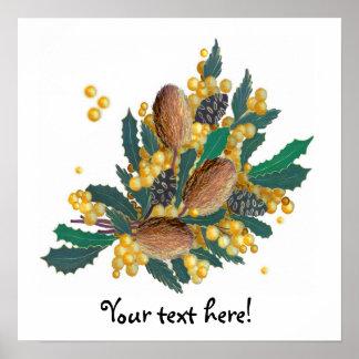Australian Wildflowers - Banksia Poster