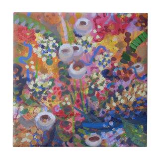 Australian wildflowers ceramic tile