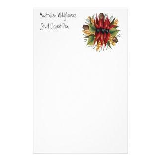 Australian Wildflowers - Sturt Desert Pea Stationery